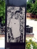 Памятник из чёрного гранита с картиной  - фото 4
