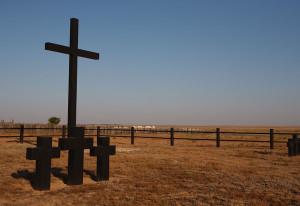 Католический крест - памятник на могиле